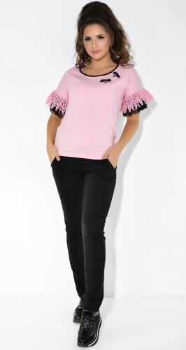 Розово-черный прогулочный костюм пчелкой