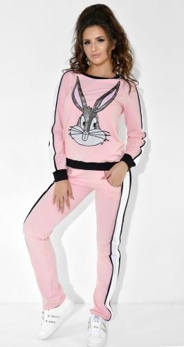 Розовый спортивный костюм цвет с Багсом Банни