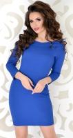 Элегантное платье № 1765  голубое