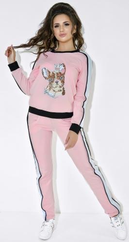 """Розовый спортивный костюм цвет с """" принцессой """""""
