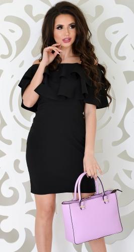 Эффектное платье № 1772 черное