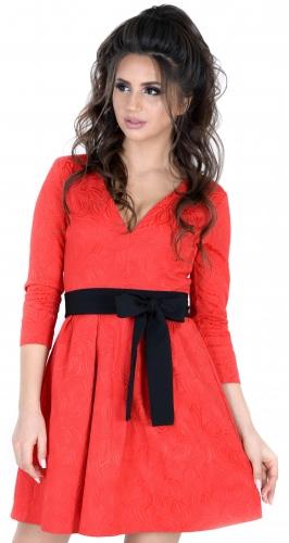 Платье № 30162SN красное