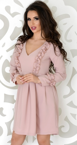 Платье № 3301SN пудра (розница 350 грн.)