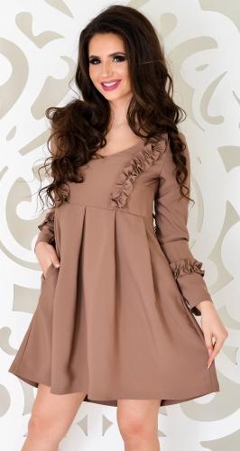 Платье № 3301SN кофе (розница 350грн.)