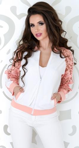 Куртка-бомбер № 35594 белая