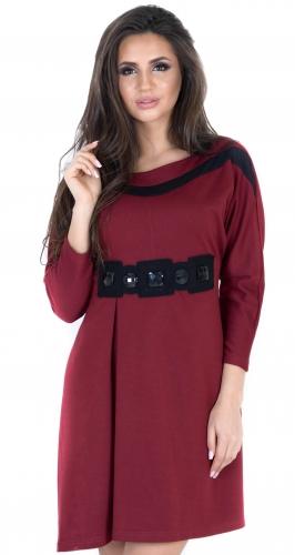 Платье-туника №639N бордо (розница 475 грн.)