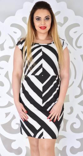 Платье № 13005N черно-белое (розница 523 грн.)
