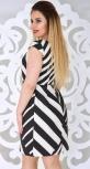 Платье № 13005 черно-белое