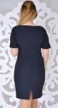 Соблазнительное  синее платье № 8706