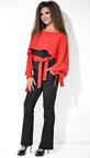 Красно-черный женский брючный костюм