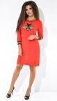 Стильное спортивное платье № 3761H, красное