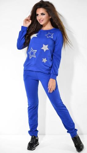 Спортивный костюм со звёздами цвета электрик