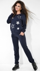 Синий спортивный костюм со звёздами