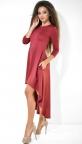 Модное бордовое повседневное платье