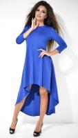 Модное синее повседневное платье