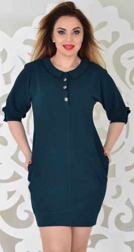 Платье № 34473SN зеленое