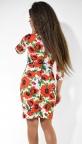 Яркое деловое платье с красными маками