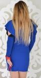 Платье № 3540r электрик с черным