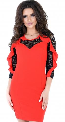 Роскошное красное вечернее платье цвета