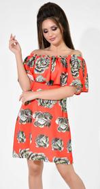 Платье № 13042 Dolche зеленый на красном