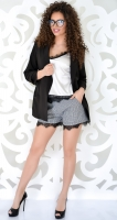 Пиджак на подкладке № 3622L черный