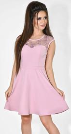 Платье № 35523 розовое