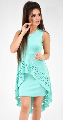 Коктейльное платье цвета минт
