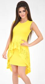 Платье № 30672 желтое