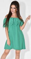 Платье № 13041 зеленое