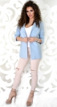 Пиджак № 3622L голубой