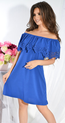 Платье № 13041N электрик (розница 490 грн.)