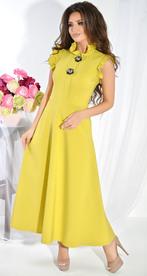 Платье № 3674 горчица