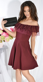 Платье № 3649 марсала