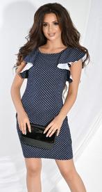 Платье № 3125SN белый горох на синем (розница 600 грн.)