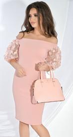 Платье № 17563 пудра