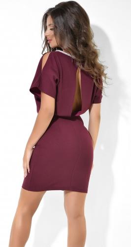 Вечернее платье № 37463 ,цвета марсала