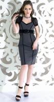 Платье № 327 серое