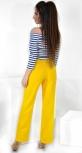 Модные желтые  брюки № 3585 с высокой талией
