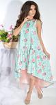 Платье № 3689 цветы на зеленом