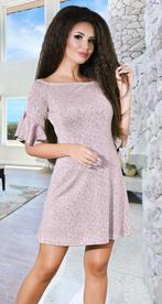 Коктейльное платье цвета пудра