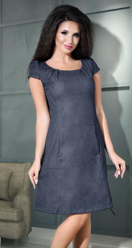 Стильное повседневное джинсовое платье