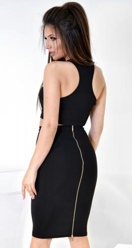 Супер-модная юбка-карандаш №1782 черная