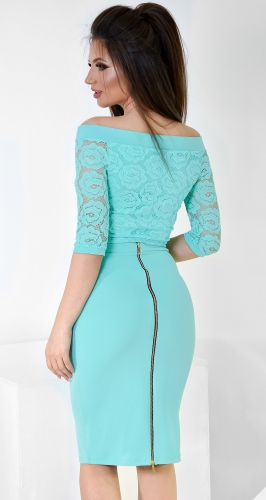 Супер-модная юбка-карандаш №1782 минт
