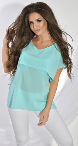 Блуза № 1212N цвет хвои (розница 425 грн.)