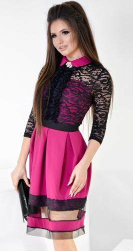 Платье № 35353 фуксия