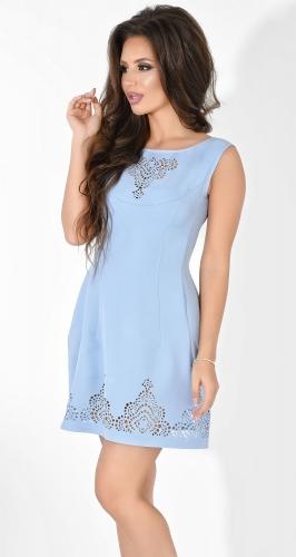 Платье № 1263N голубое (розница 515 грн.)