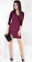 Платье № 35392S марсала