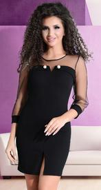 Облегающее коктейльное черное платье