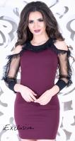 Красивое платье цвета марсала № 3533
