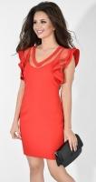 Платье № 3686N красный